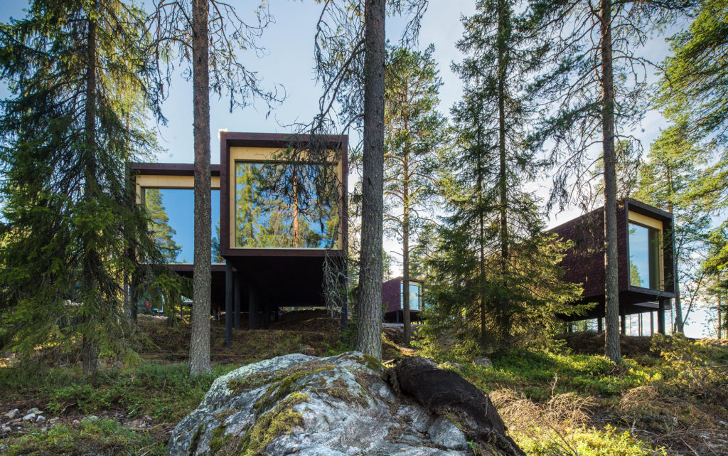 Arctic TreeHouse Hotel suites summer in Rovaniemi, Lapland, Finland